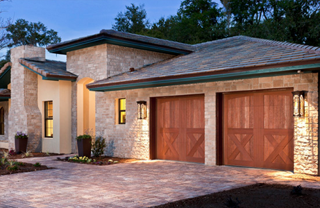 brown Carriage house garage doors
