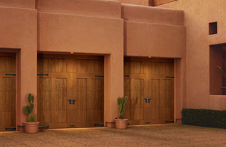 southwest style Carriage house doors