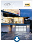 Contemporary garage doors - Avante Brochure