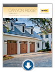 Carriage house garage doors - Canyon Ridge